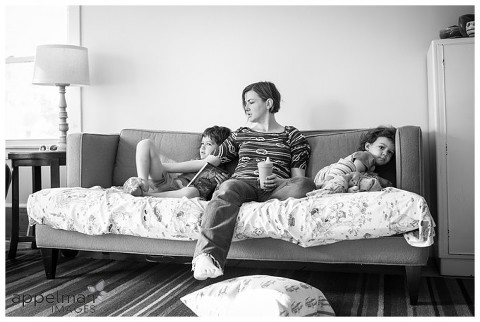 Photojournalistic Family Photography in Naperville by Appelman Images Photography, family on the couch