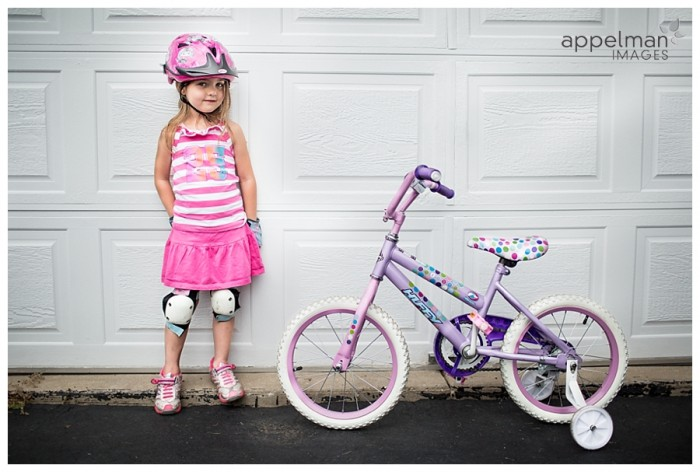 LIttle Biker Girl Glitter Purple and Pink Huffy Bike Naperville lifestyle Family photographer 223-365 2014