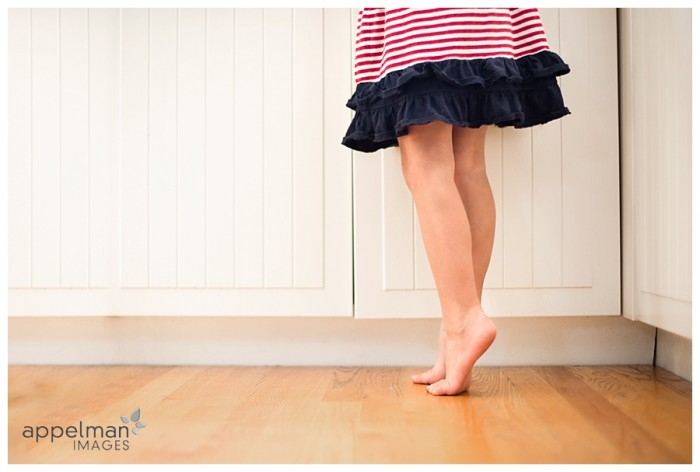 Reaching on tippy toes red white blue child portrait 228-365 2014