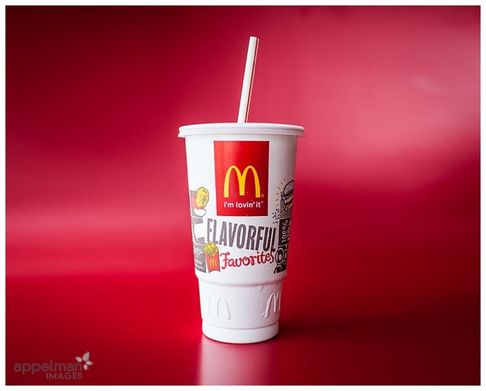 Naperville Family Lifestyle Details McDonalds Classic Drink on Red background 102-365 2014