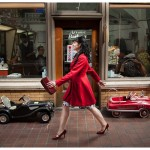 Naperville Custom Modern Women's Portraiture Retro Ann Arbor Photographer Red Dress and Arcade Barber Shop 107-365 2014