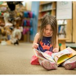 Naperville Photographer kid in the downtown book store 111-365 2014