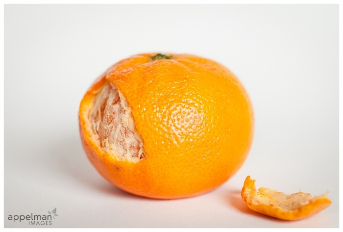 Naperville Art photographer Flesh Tangerine Peel still life and texture orange and white 123-365 2014