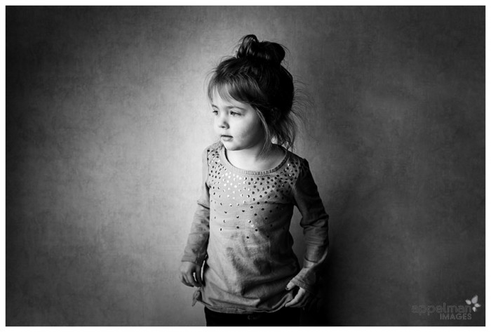 School Hall Portrait of Preschool Child Chicago Suburbs 13-365 2014, black and white photo of kid