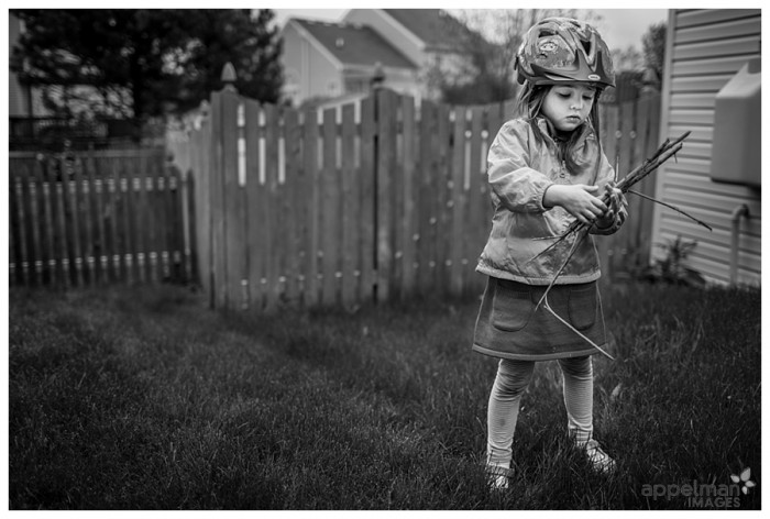 Documentary Style Family and Kid pictures by Naperville Photographer Gathering Sticks for a birds nest_lowres 135-365 2014