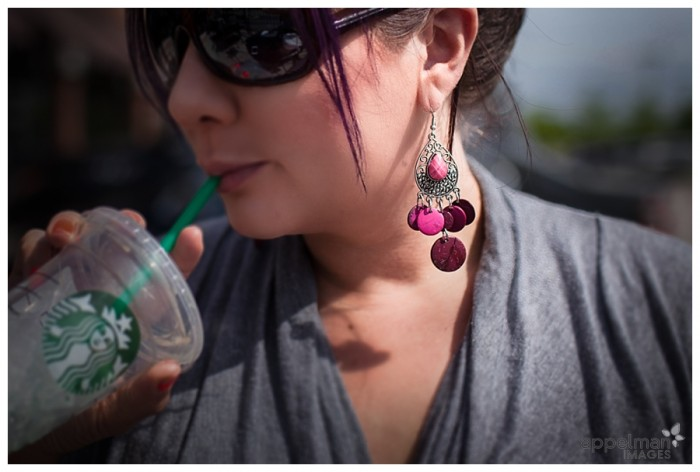 Naperville Modern Lifestyle Photographer Woman in Pink Earrings work meeting 143-365 2014
