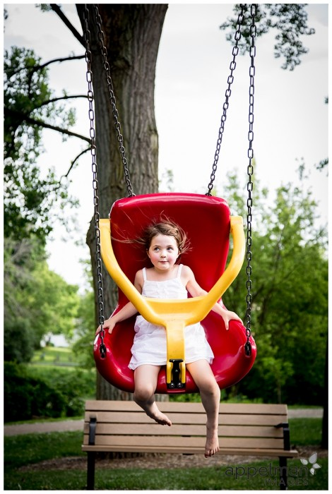 Big Swing at the New Park Childhood photographer Naperville 174-365 2014