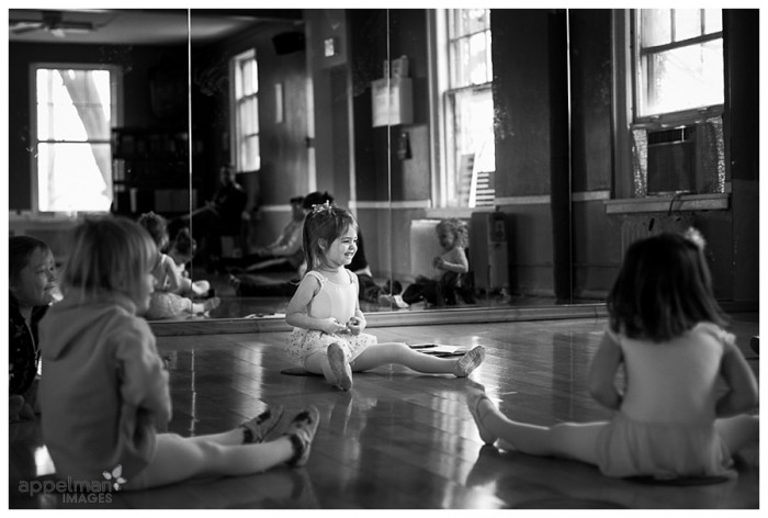 Naperville Child Photograph Dance Class Warm Up 18-365 2014