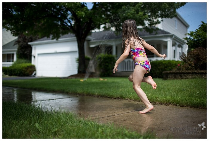 Sprinkler Dodging Naperville Photographer for Families and Children in photojournalistic style 182-365 2014