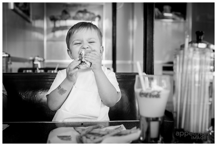 Diner Experience for Preschool Child Hotdog and Shake by Naperville lifestyle photographer 187-365 2014