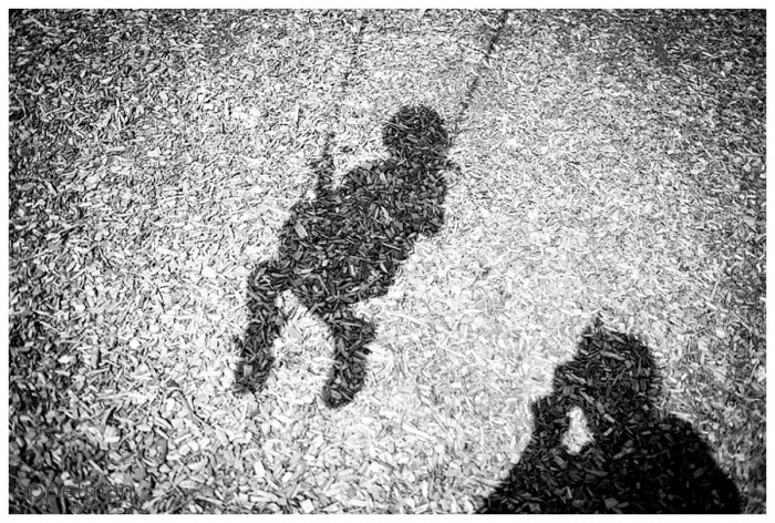 Mama Photog and Child Swing Fleeting in Shadow Silhouette Naperville Lifestyle Portrait Photographer 190-365 2014