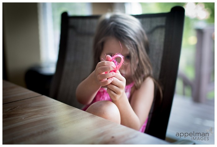 Frayed pink heart and a little girl at the table naperville lifestyle photographer 191-365 2014