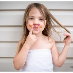 Rainbow Mustache Tattoo on Beautiful little girl by Naperville Lifestyle Family Photographer 208-365 2014