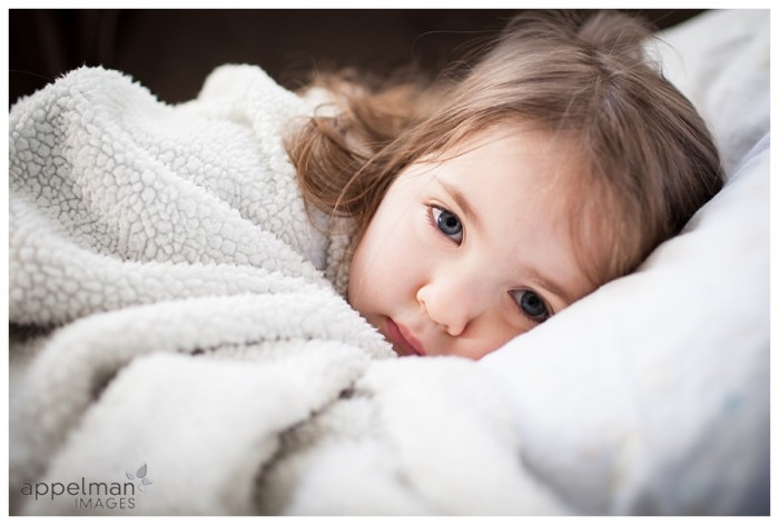 Kid Photo Freezing Day blanket snuggle in home Naperville portrait 21-365 2014