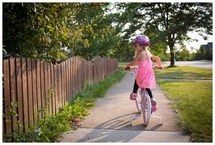 Summer Walks and bicycles with kids in evening sunlight by naperville family photographer 210-365 2014