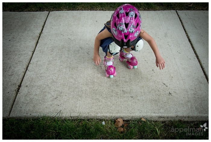 Animal tracks and roller skates kids portrait lifestyle photography for family 214-365 2014