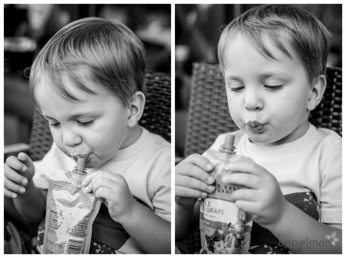 Squeezy Fruit Starbucks Treat preschool kid enjoying a snack naperville illinois photographer a 219-365 2014