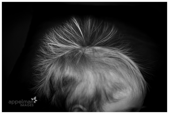 Unique Baby Portraits in Naperville Static Fauxhawk hair picture 22-365 2014