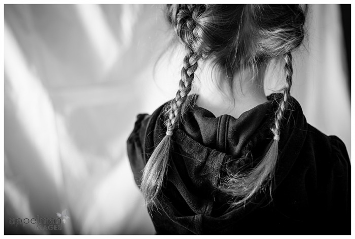 Naperville Child photographer braids black and white 23-365 2014