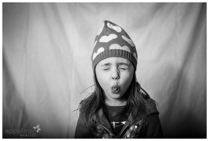Naperville custom portrait photographer little girl child in snow hat 36-365 2014