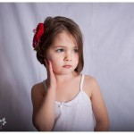 Beautiful Custom Child Photography in Naperville on location little girl with red flower bow 37-365 2014