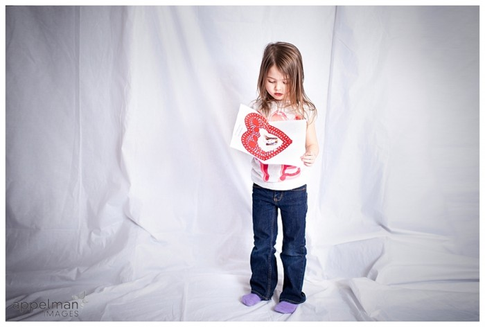 Little Girl Valentine Special Photo Shoot artistic child portrait 45-365 2014