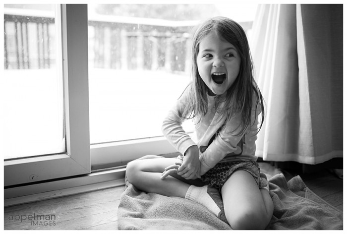 Photograph of little girl at home by Naperville Appelman Images Photography Happy Snow Day 48-365 2014