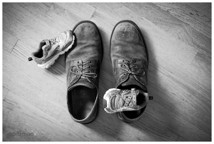Naperville family photographer story telling daddy baby son shoes portrait 53-365 2014