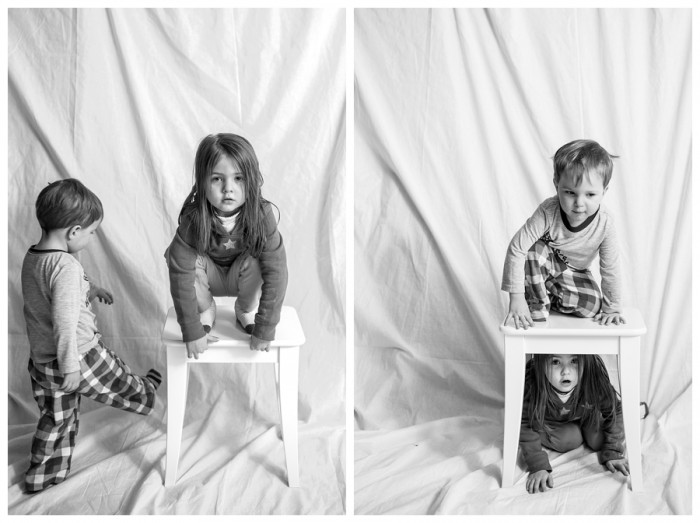 Child portraits with character by Naperville photographer in black and white studio 57-365 2014