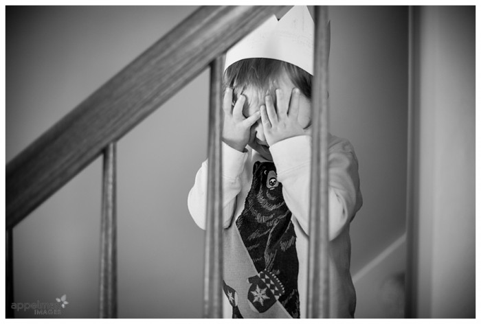 Little Boy Hiding in crown Naperville sweet child portraits 72-365 2014