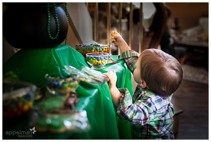 Little Boy and rainbow candy Naperville Kid Candid Portrait St Patricks Day party 75-365 2014