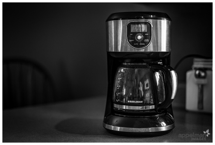 Naperville Documentary Photography coffee machine black and decker morning details of family home 89-365 2014