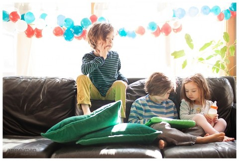 Naperville and Chicago Kids Photographer Sunlight window and young brothers and sister 96-365 2014