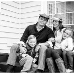 Naperville Photographer for families family of four in black and white
