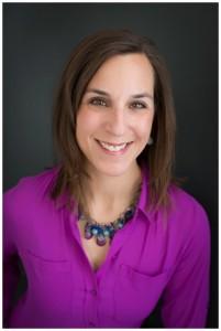 Naperville Headshots | Woman In Bright Purple Shirt