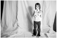 Naperville Child Photographer Honest cool custom portraits of children valentines girl bw photo