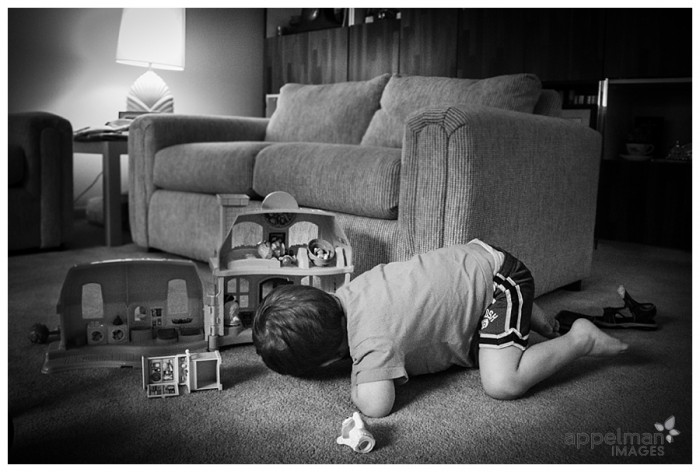 Point Of View little boy doll house Naperville documentary photographer 151-365 2014