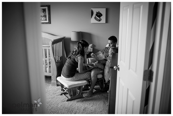 Photographer in Naperville family lifestyle candid beautiful portrait sessions family in nursery Oswego Montgomery il