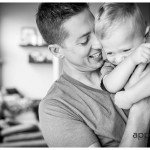 daddy and son photo by lifestyle professional photographer in naperville and oswego il black and white portrait