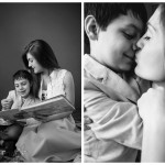 Mama Minis Naperville Photographer 2015 Mother and Child bw diptych 1