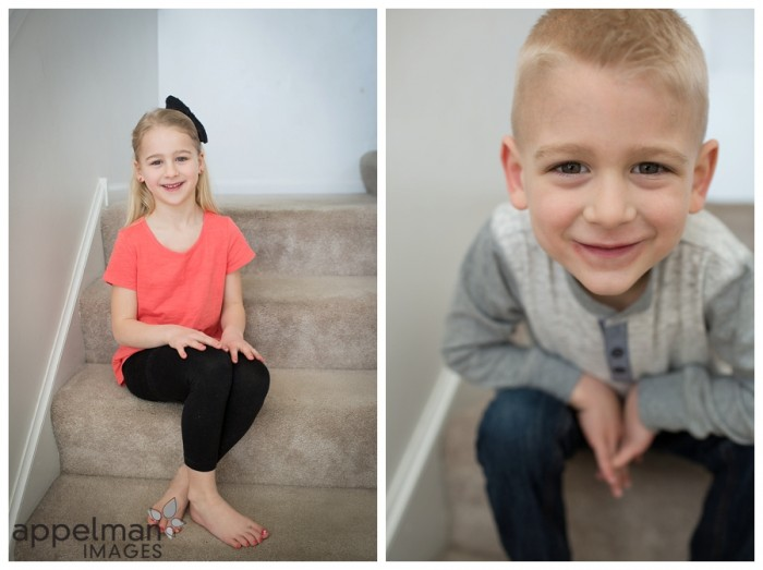 Gorgeous kids portraits at home by naperville photographer