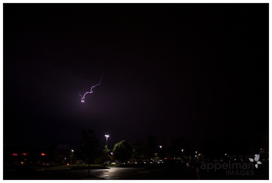 baby lightning dragon purple sky in naperville at night in the summer by appelman images photography