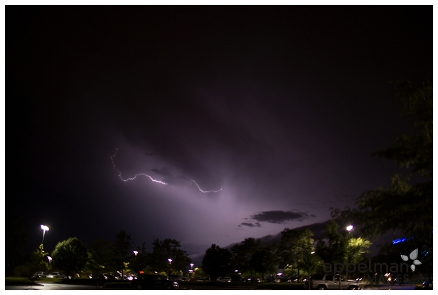 backlighting of lightning purple sky at night in naperville by photographer appelman