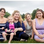 lovely girls all together for a special family photo by naperville family photographer