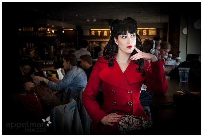 Red coat red lips coffee shop ann arbor michigan