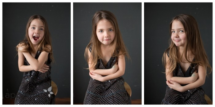 Little girl personality portraits in sparkly dress birthday childrens photographer naperville