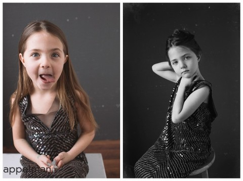 Silly and beautiful little girl portraits by naperville glamour photographer
