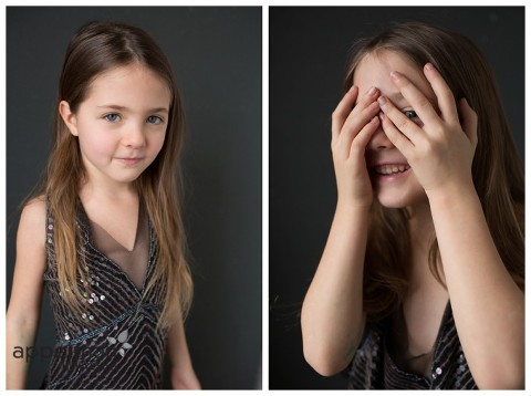 Young model in dress and loose hair peeking thru hands naperville portrait photographer